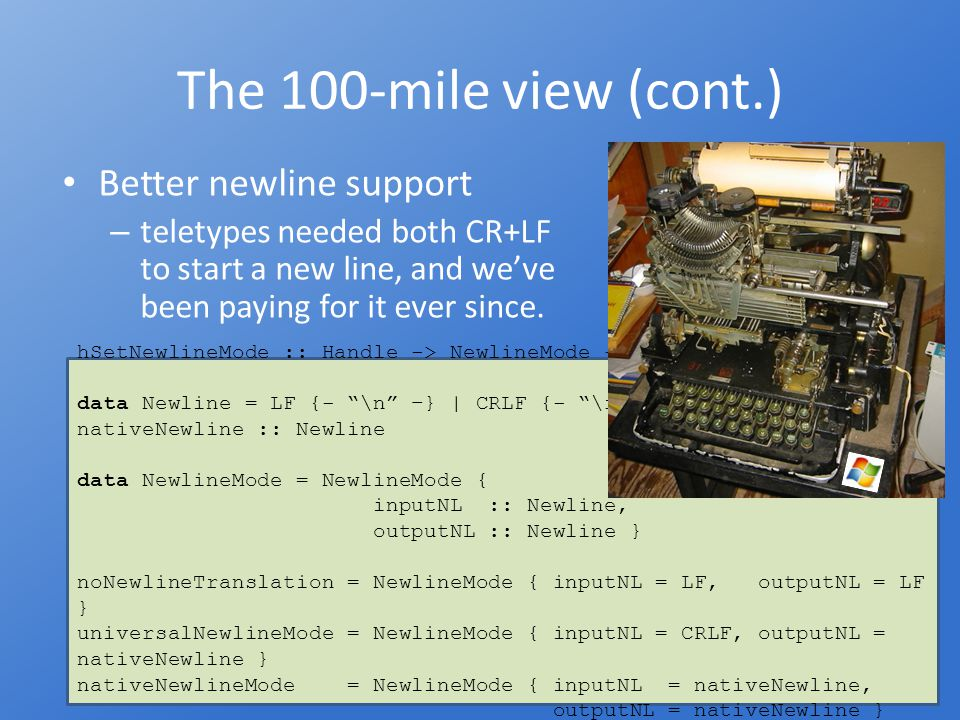 The 10-mile view Unicode codecs: – built-in codecs for UTF-8, UTF-16(LE,BE), UTF- 32(LE-BE).