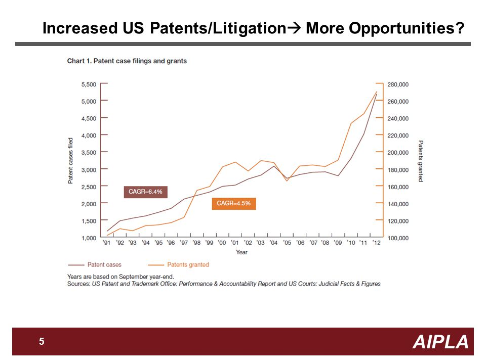 AIPLA 5 Firm Logo Increased US Patents/Litigation  More Opportunities
