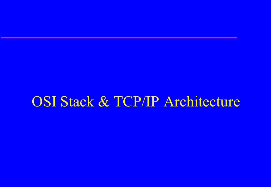 What is TCP/IP.