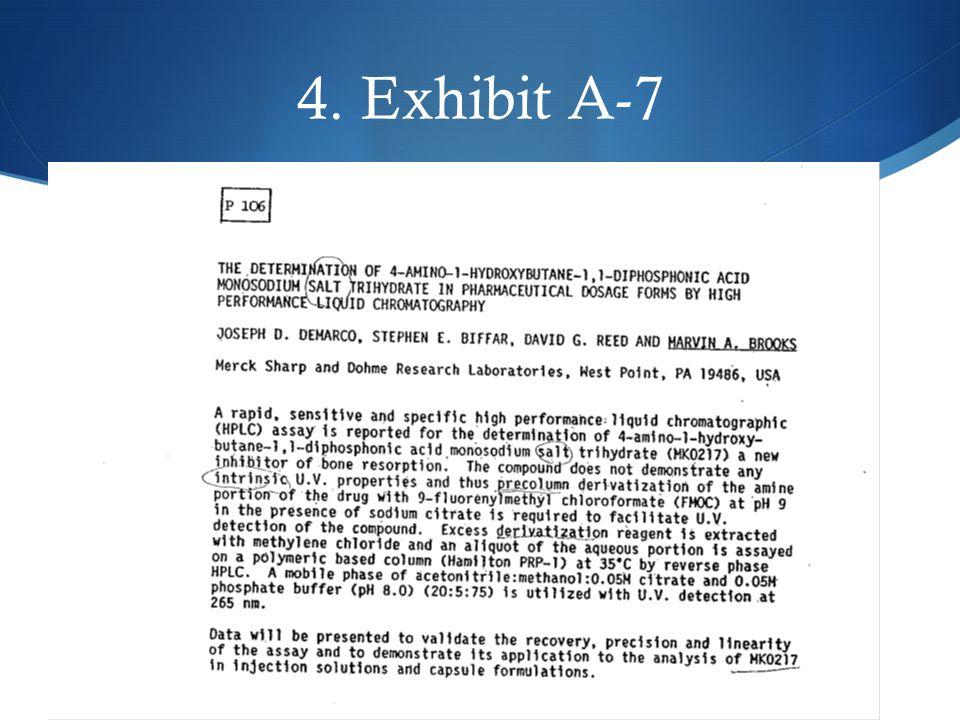 5 4. Exhibit A-7 5