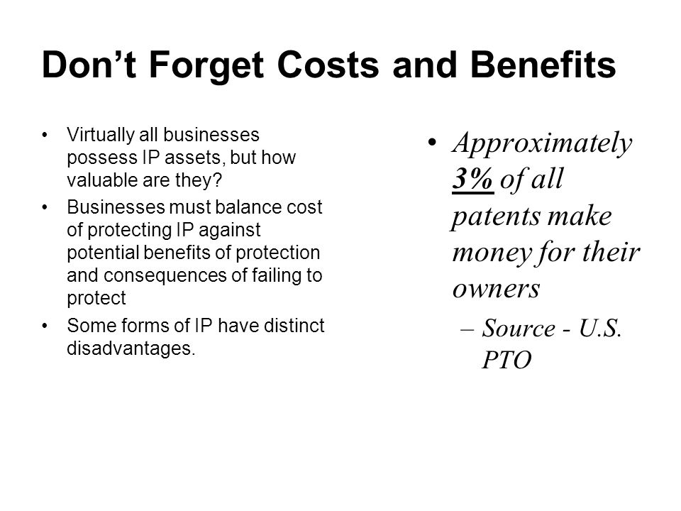 Owning IP In Absence of Contract Intellectual Property Employees CreateIndependent Contractors Create PatentsIf employees employed to invent, Company Owns it, otherwise shop right Absent assignment contract, inventor owns it.