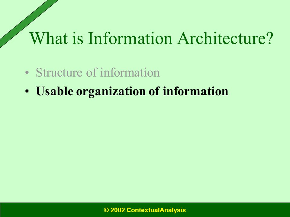 What is Information Architecture.