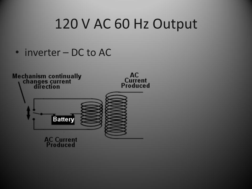 120 V AC 60 Hz Output inverter – DC to AC