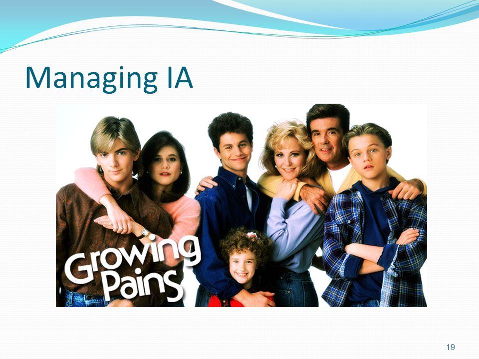 Managing IA 19