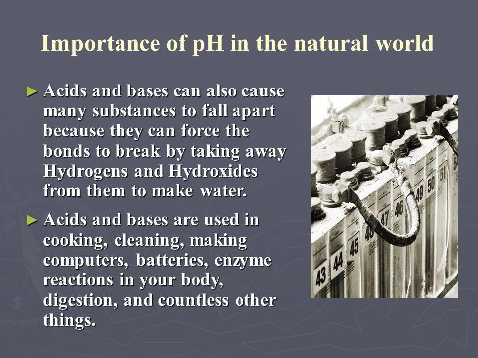 ► The rate of certain reactions is affected by the pH of the solution. If the reaction involves a proton, or H+, then a more acidic solution will have