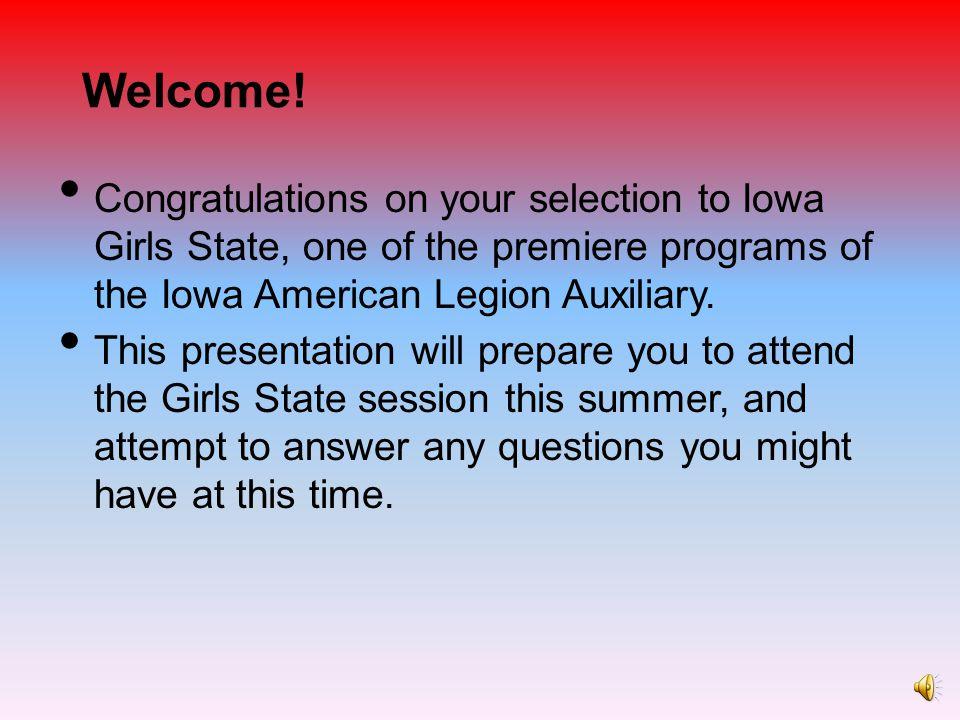 Counties of Iowa Girls State Carr County Glynn, Hanson, Harper-Rhea, Hinderman Macrae County Ladehoff, McLaughlin, Young