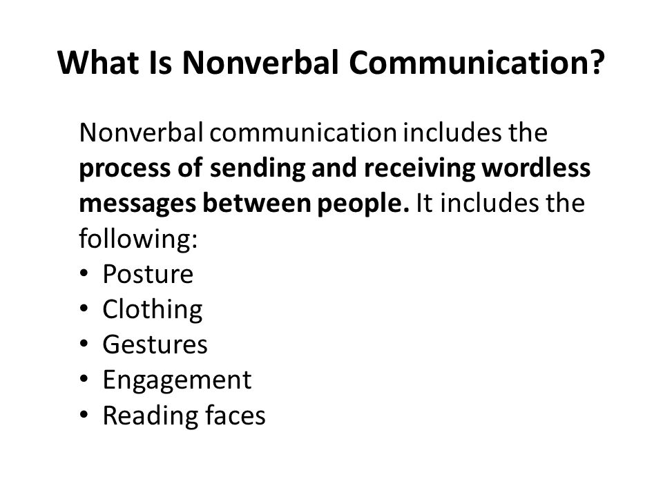What Is Nonverbal Communication.