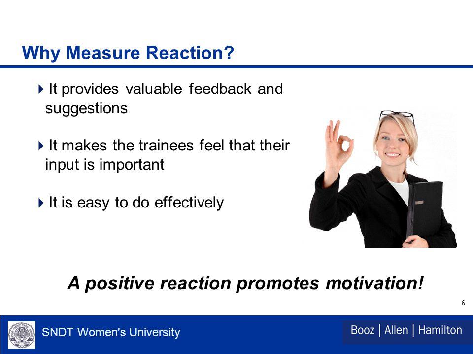 6 SNDT Women s University Why Measure Reaction.