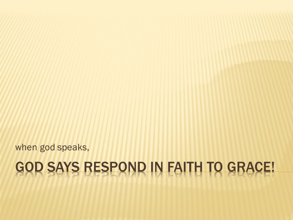 when god speaks,