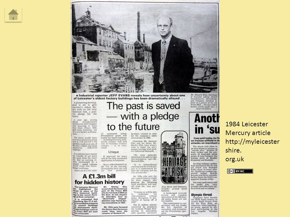1984 Leicester Mercury article http://myleicester shire. org.uk
