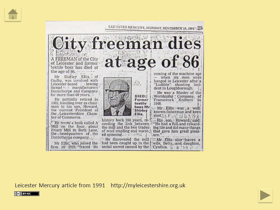 Leicester Mercury article from 1991 http://myleicestershire.org.uk