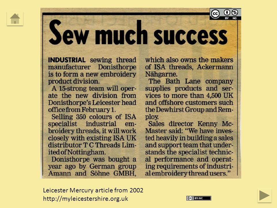Leicester Mercury article from 2002 http://myleicestershire.org.uk