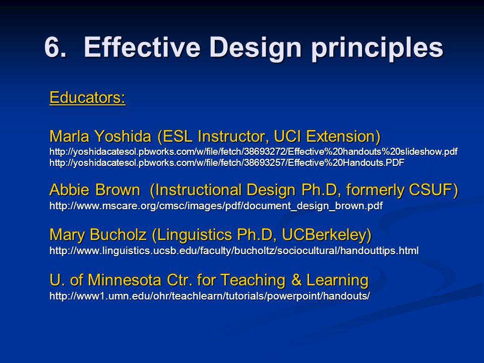 6. Effective Design principles