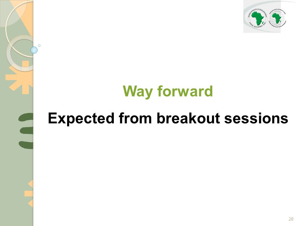 28 Way forward Expected from breakout sessions