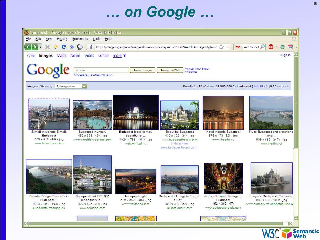 19 … on Google …