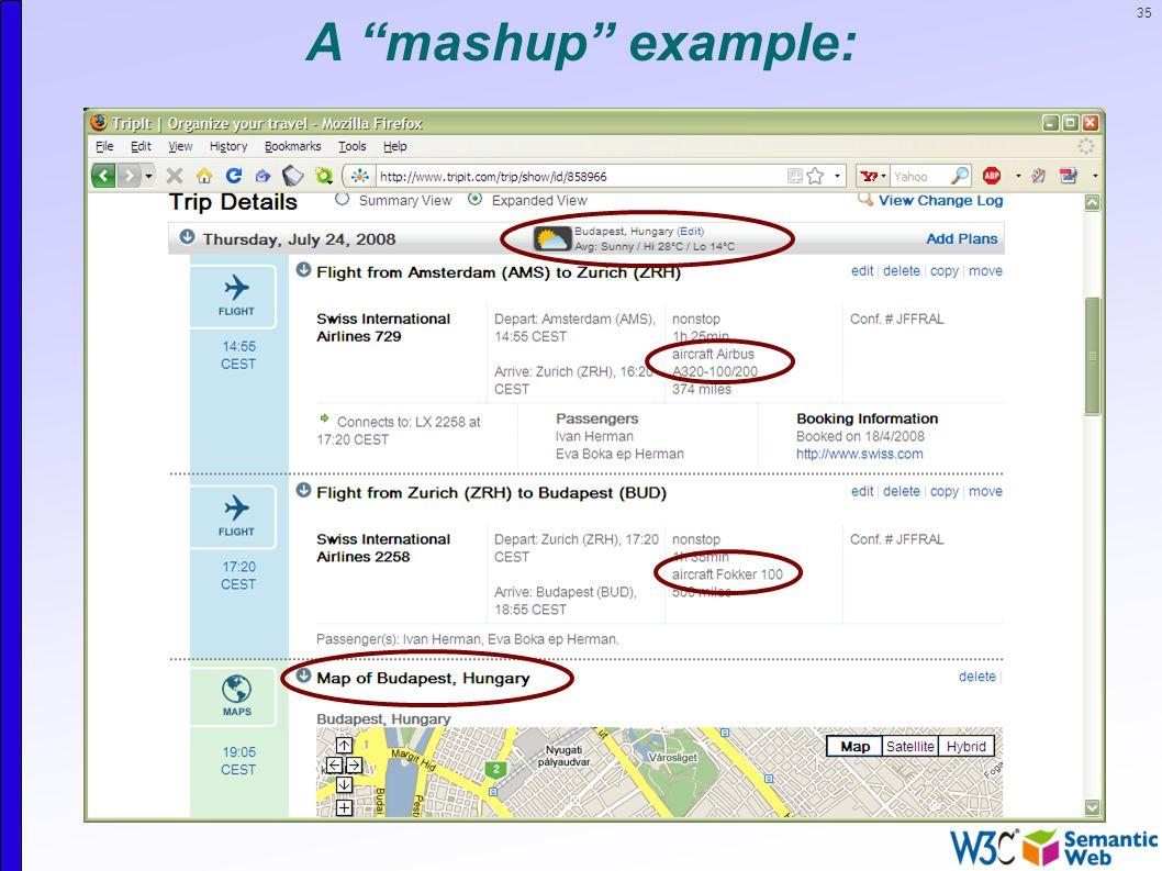 35 A mashup example: