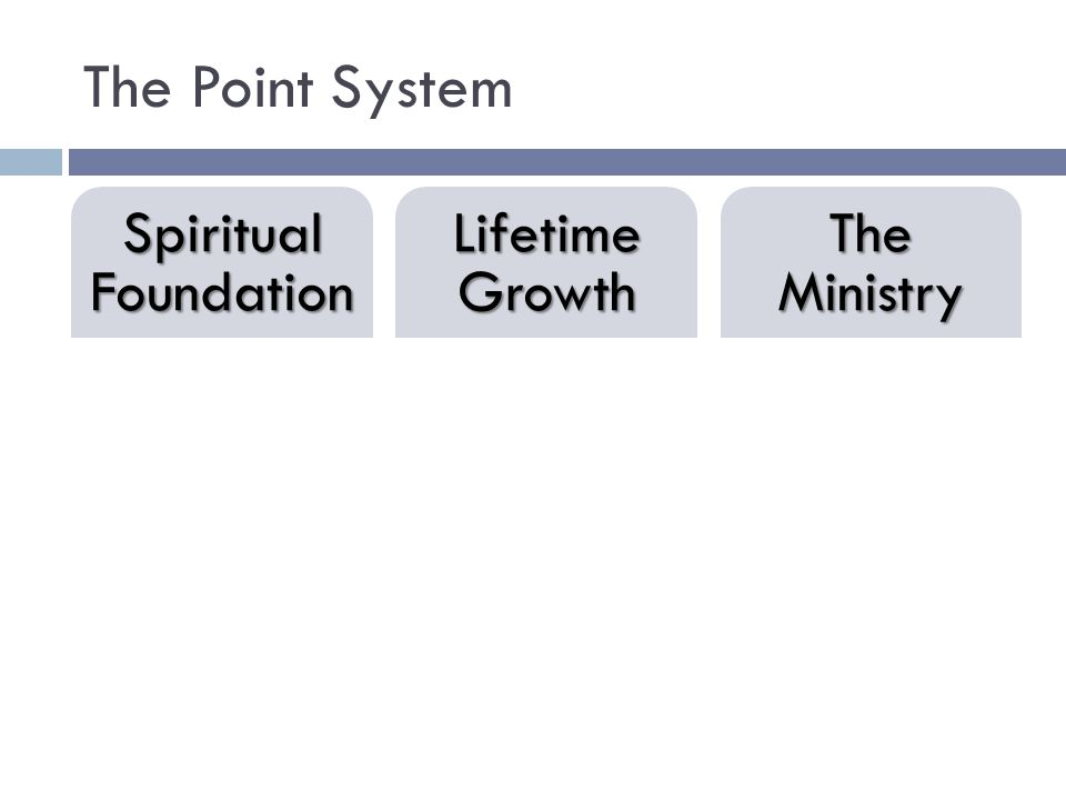 Spiritual Foundation Book List Effort for Growth Lifetime Growth Book List Attend Leadership Events The Ministry Investing in Others Ownership & Initiative