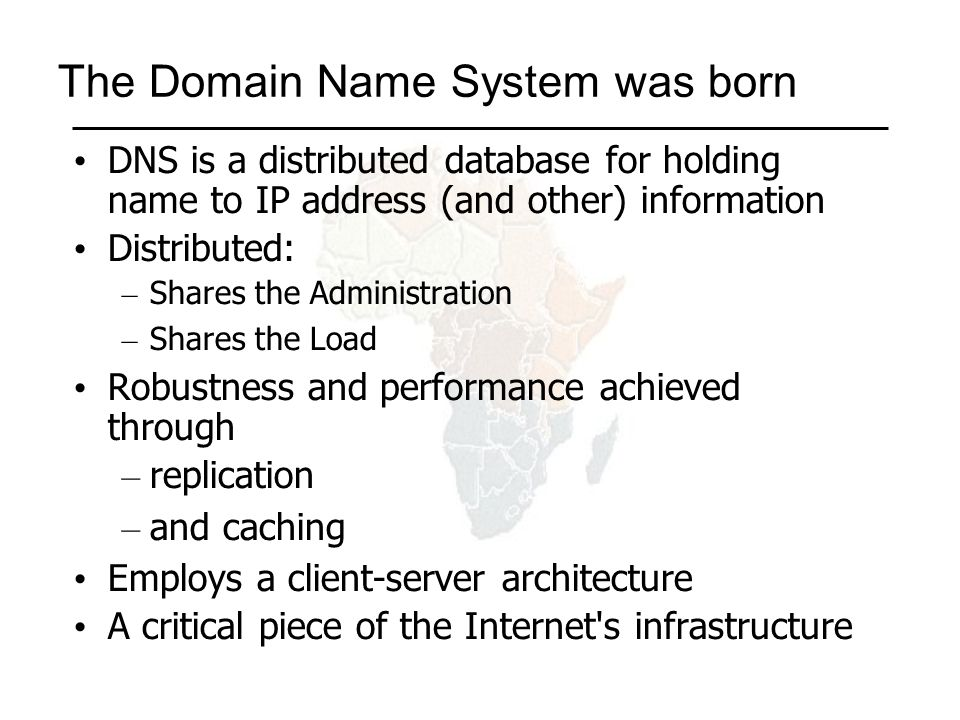 There are three roles involved in DNS Resolver Caching Nameserver Authoritative Nameserver Application e.g.
