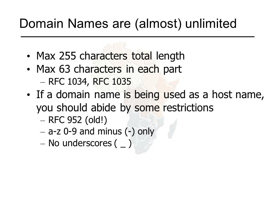 Using the DNS A Domain Name (like www.ws.afnog.org) is the KEY to look up information The result is one or more RESOURCE RECORDS (RRs) There are different RRs for different types of information You can ask for the specific type you want, or ask for any RRs associated with the domain name