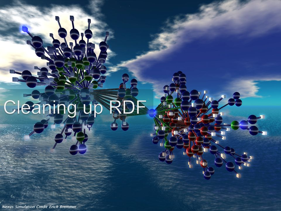 Cleaning up RDF Nexus Simulation Credit Erich Bremmer