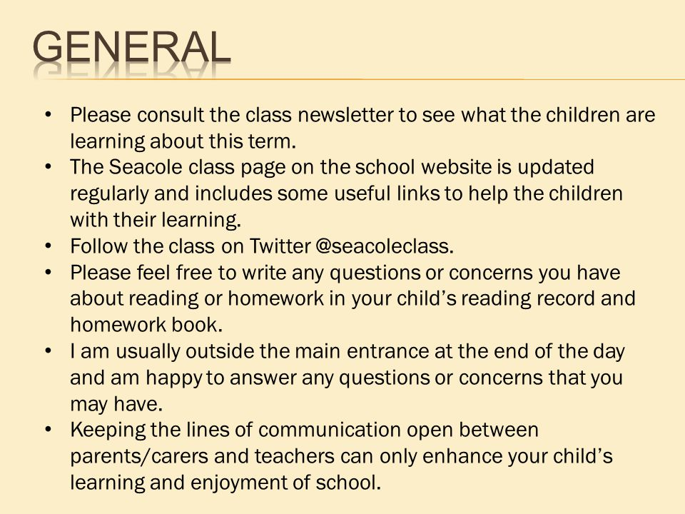 Please consult the class newsletter to see what the children are learning about this term.