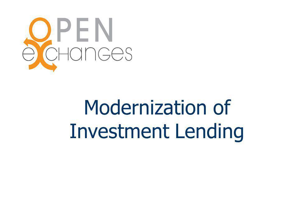 Modernization of Investment Lending