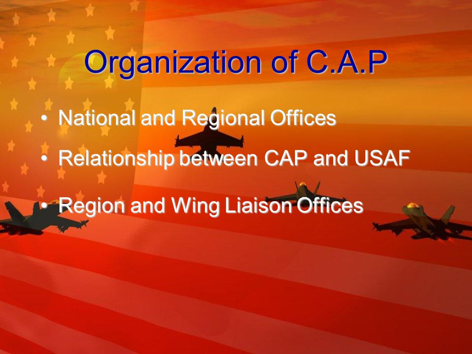 Missions of C.A.P Aerospace Education Orientation FlightsOrientation Flights Model Airplane BuildingModel Airplane Building Model RocketryModel Rocketry Flight TrainingFlight Training Orientation About Aerospace CareersOrientation About Aerospace Careers