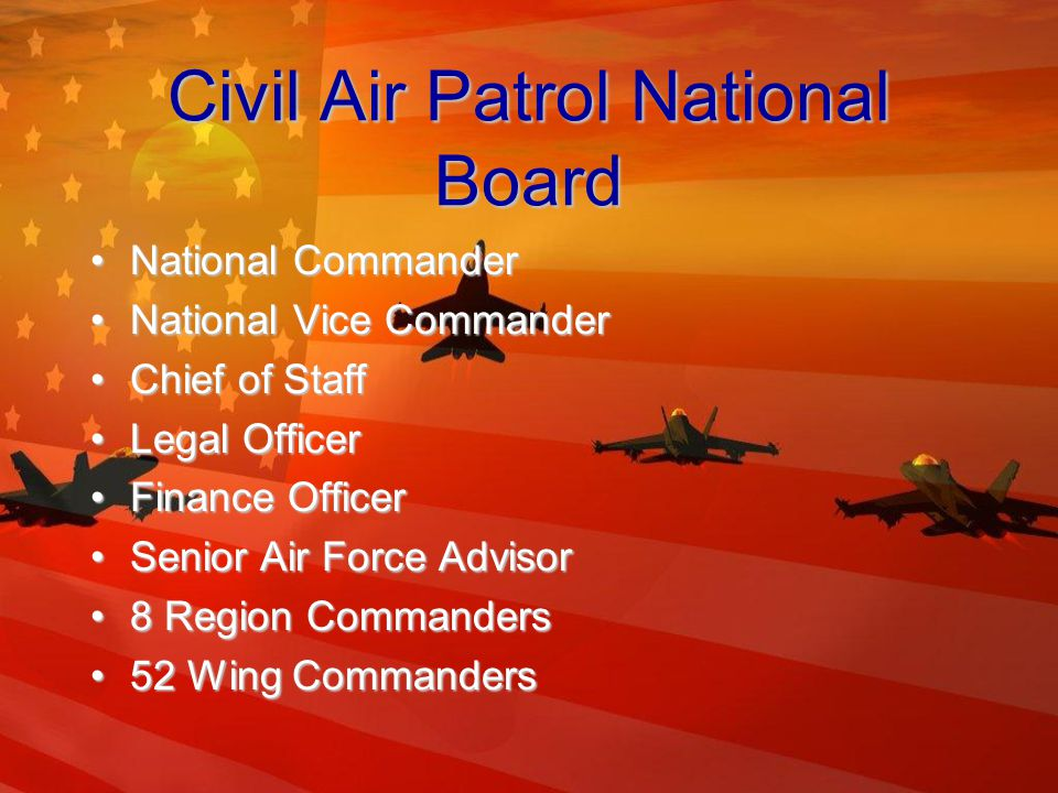 Organization of C.A.P National and Regional OfficesNational and Regional Offices Relationship between CAP and USAFRelationship between CAP and USAF Region and Wing Liaison OfficesRegion and Wing Liaison Offices
