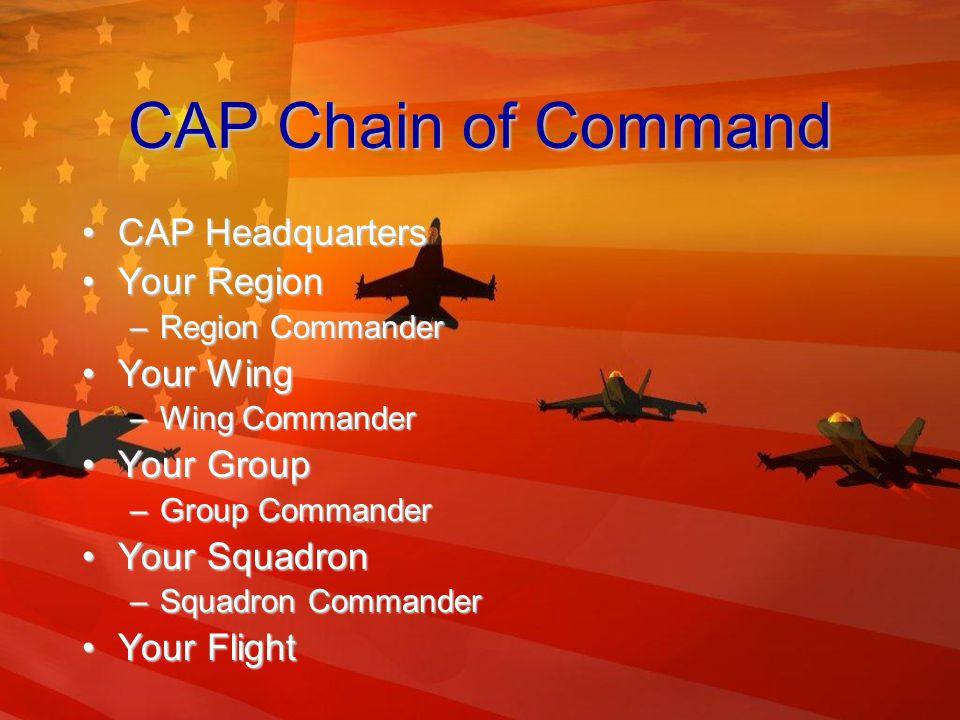 CAP Squadrons Composite SquadronComposite Squadron Cadet SquadronCadet Squadron Senior SquadronSenior Squadron CongressionalCongressional PatronPatron