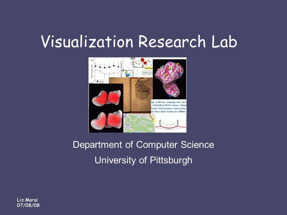 Liz Marai 07/08/08 Visualization Research Lab Department of Computer Science University of Pittsburgh