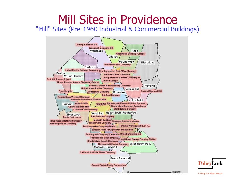 Mill Sites in Providence Mill Sites (Pre-1960 Industrial & Commercial Buildings)