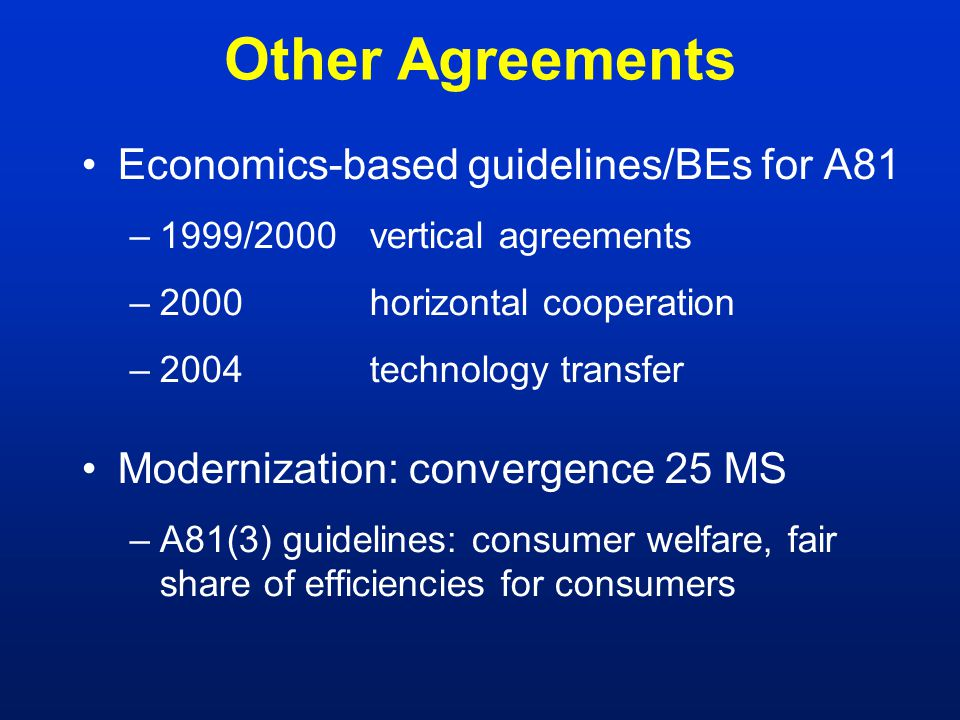 Mergers: EU History (1) 1999 Airtours/First Choice prohibited 2001 GE/Honeywell, Tetra Laval/Sidel, Schneider Electric/Legrand prohibited ICN launched: facilitate convergence 2002 CFI annuls Airtours, Schneider, Tetra prohibitions US/EC 'Guidelines on Best Practice': cooperation in investigations 2003 Chief Economist appointed.