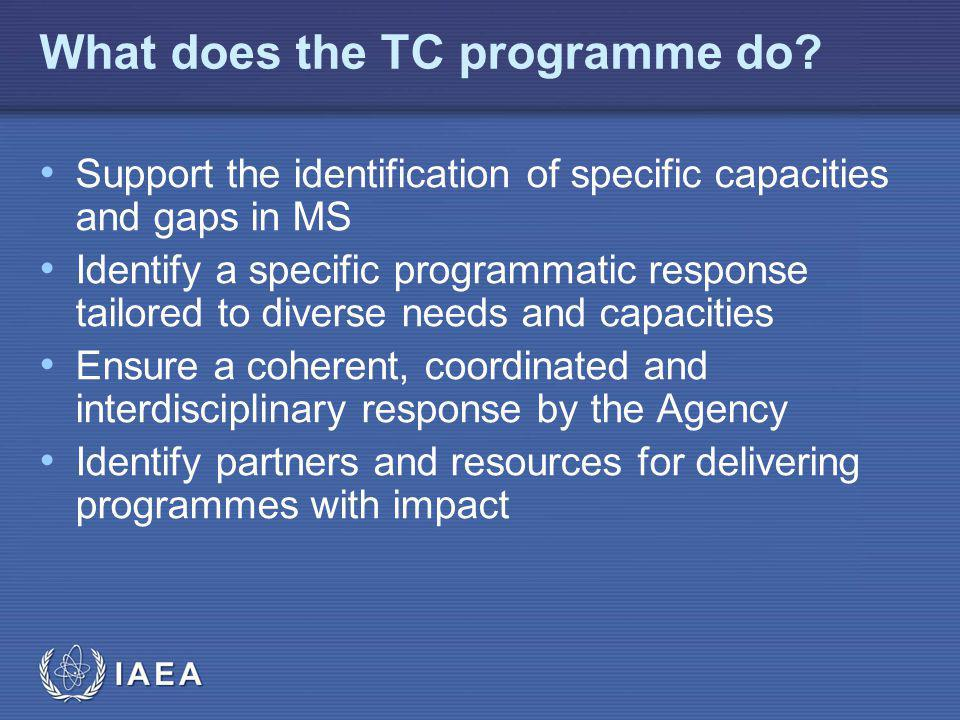 IAEA What does the TC programme do.