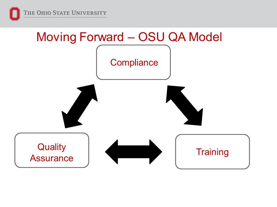 Moving Forward – OSU QA Model Compliance Training Quality Assurance