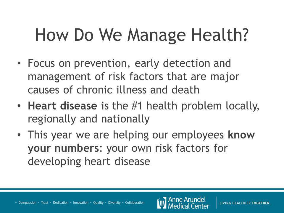 How Do We Manage Health.