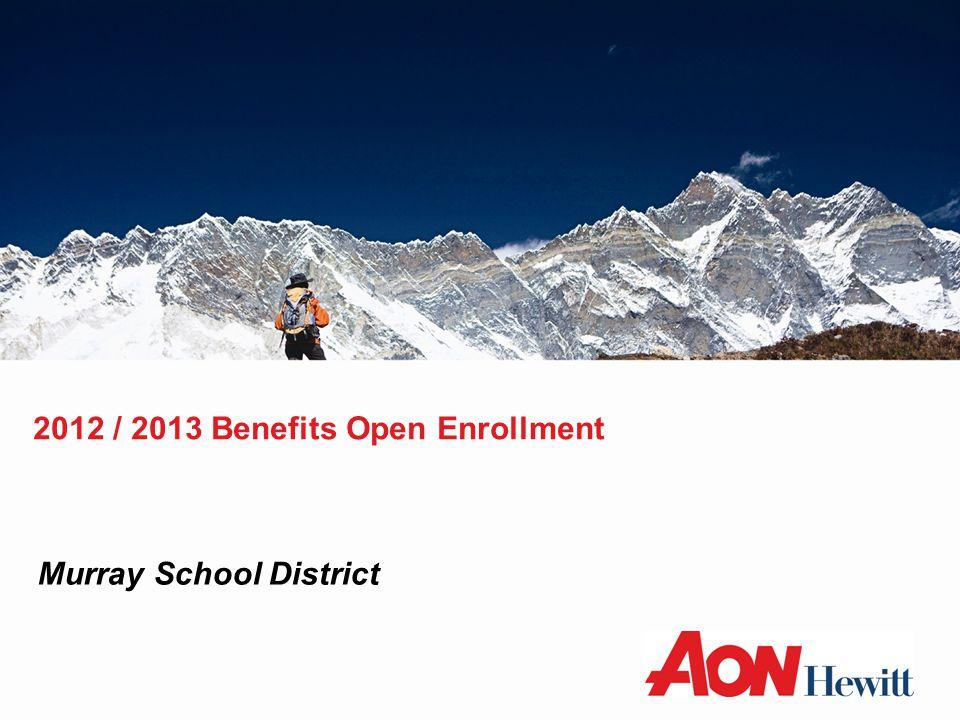 2012 / 2013 Benefits Open Enrollment Murray School District