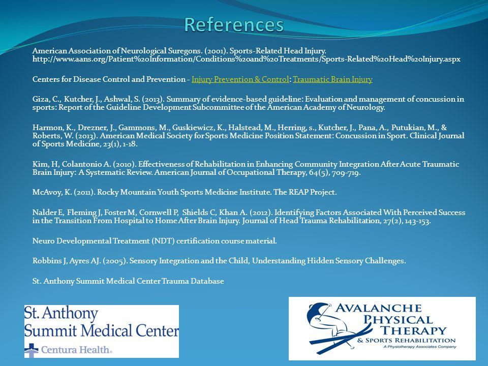 American Association of Neurological Suregons. (2001).