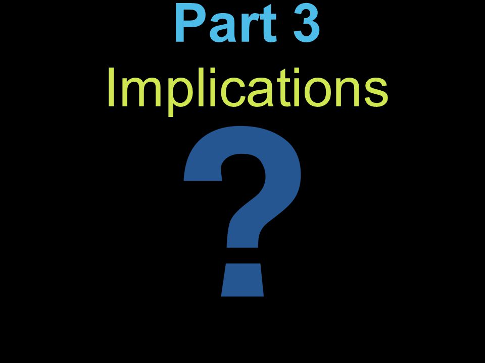 Part 3 Implications