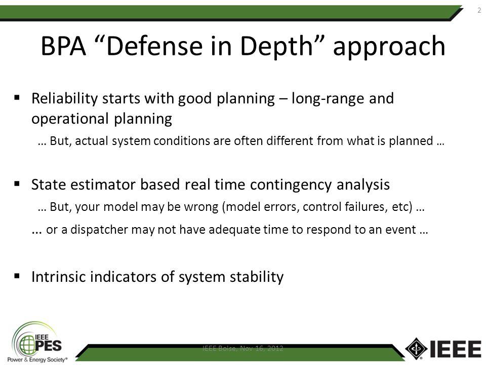 Defense in Depth Study