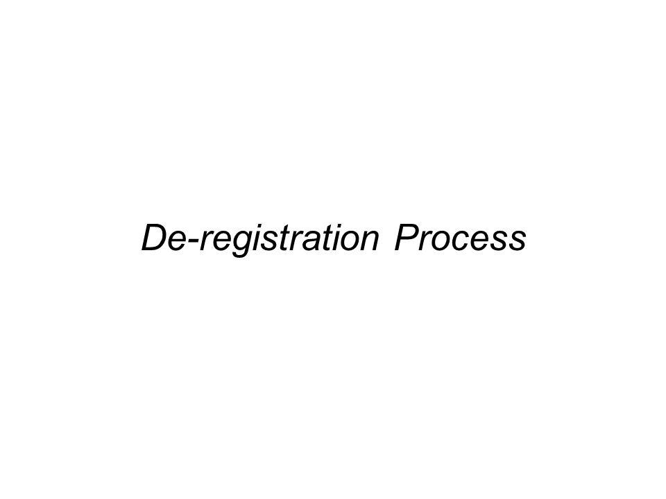 De-registration Process