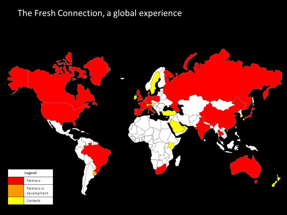 21 The Fresh Connection, a global experience y Legend Partners Partners in development Contacts