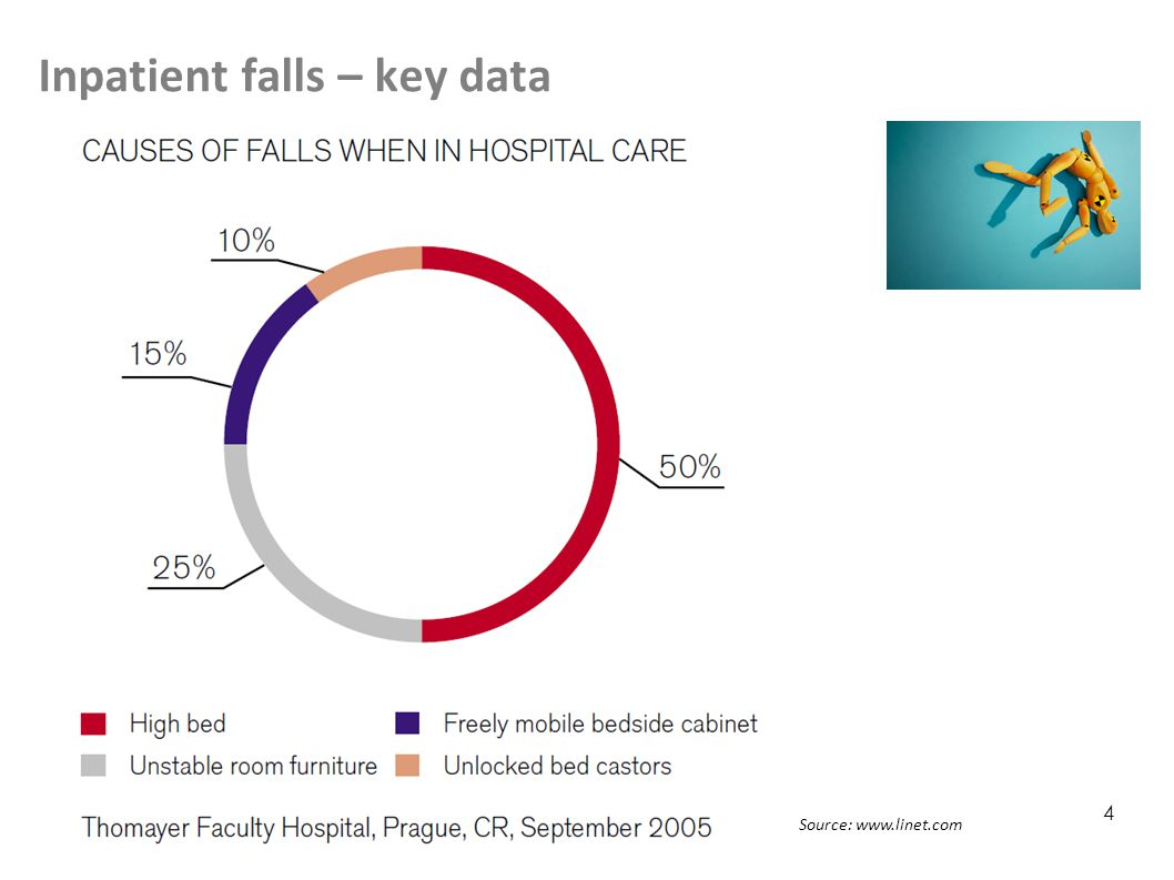 Inpatient falls – key data 4 Source: www.linet.com