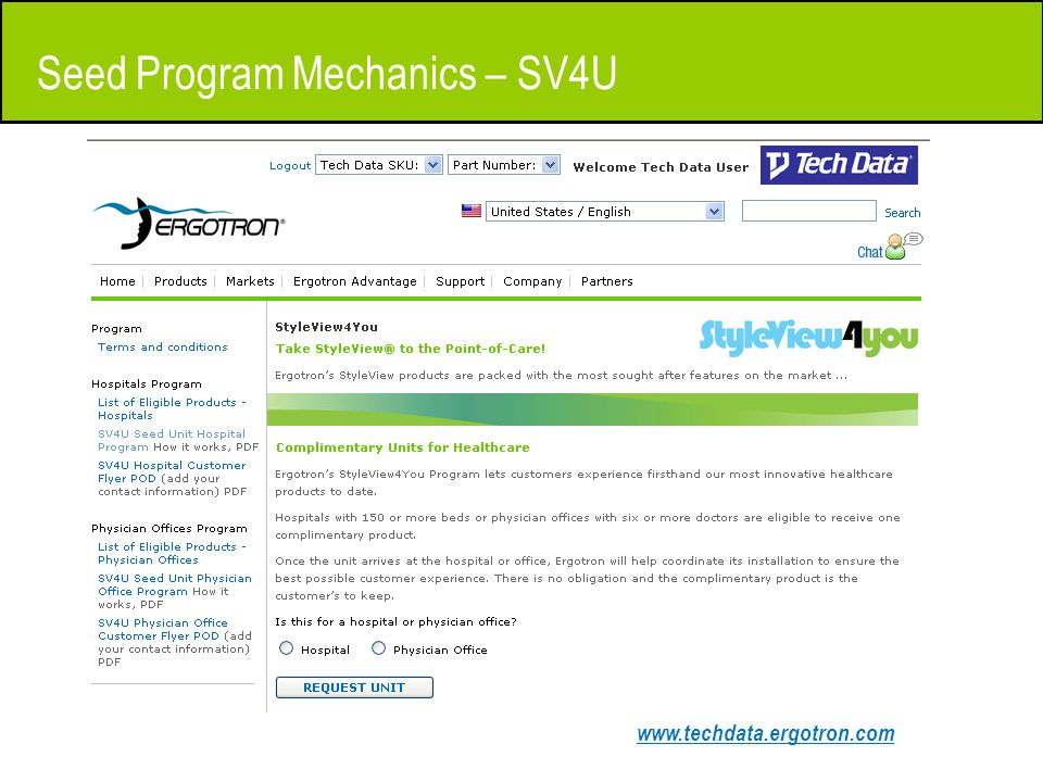 www.techdata.ergotron.com Seed Program Mechanics – SV4U