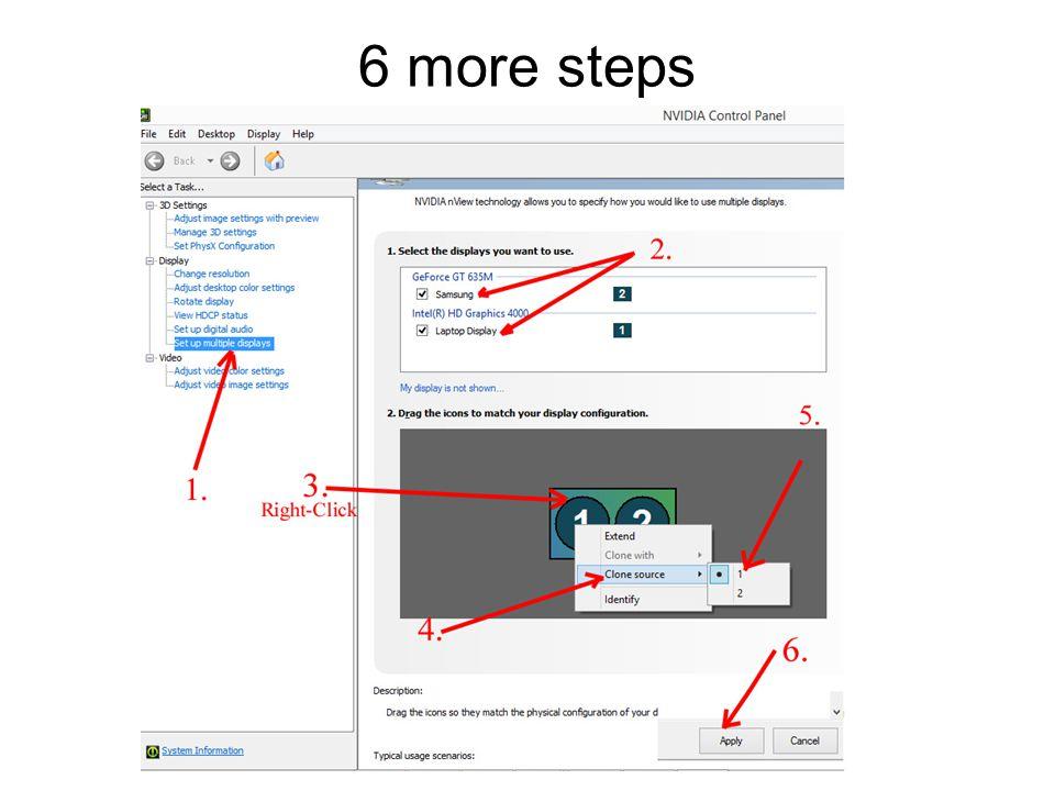 6 more steps