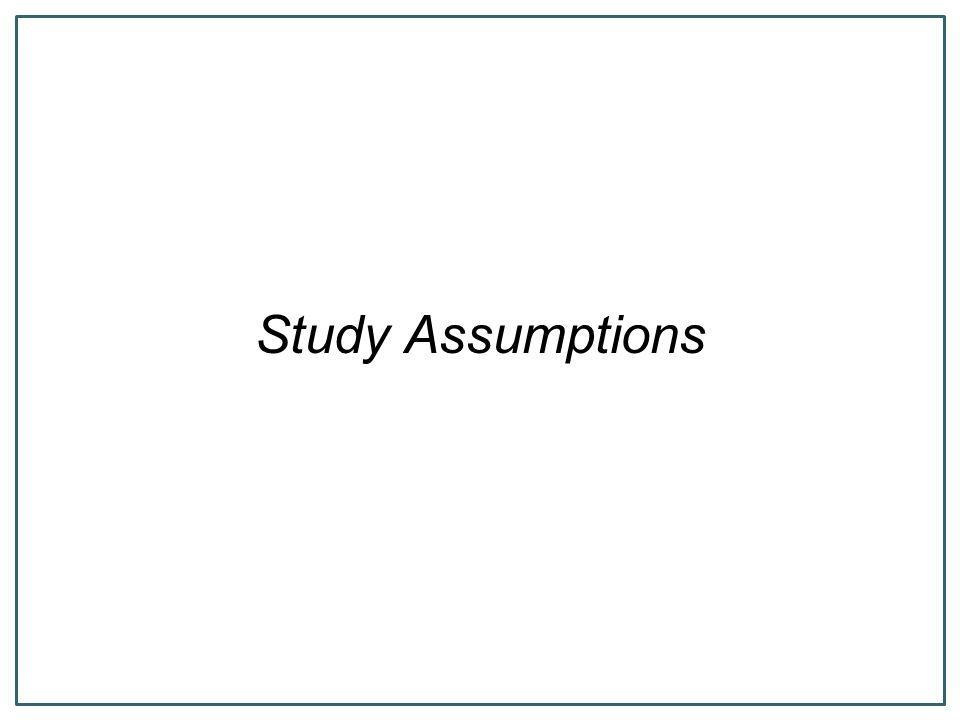 Study Assumptions