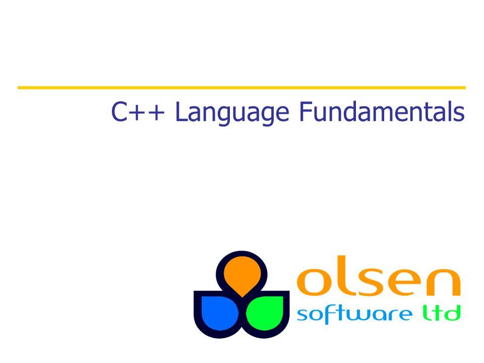 C++ Language Fundamentals