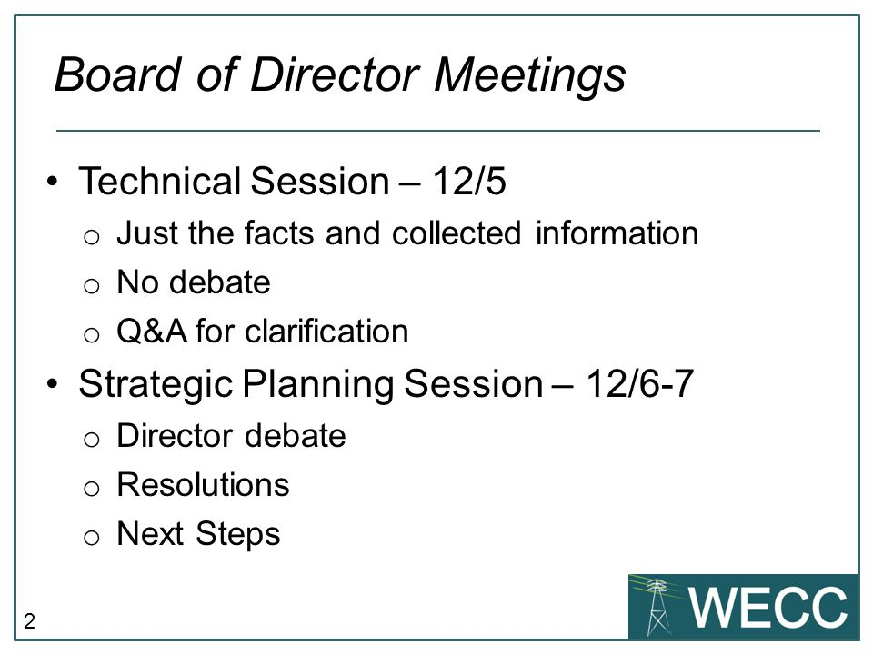 103 One director option with MAC * o Stout, MacLaren, Casey, Chamberlain, Shetler support to eliminate fractional voting and provide a wide range of member inputs o Kelly supports if multiple director option rejected Multiple directors per vote option without MAC Kelly: allows entire view of the class to be represented One Director option without a MAC o Feldman: a Hybrid Board has members on the Board and does not need a MAC reporting to the board.