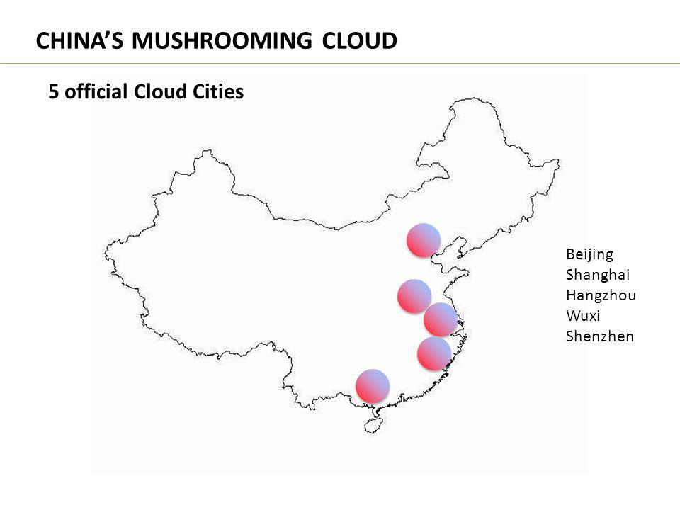CHINA'S MUSHROOMING CLOUD 5 official Cloud Cities Beijing Shanghai Hangzhou Wuxi Shenzhen