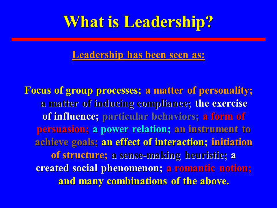 What is a Leader.