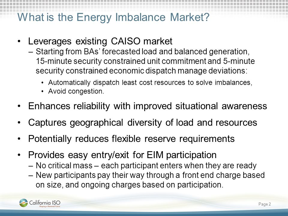 What is the Energy Imbalance Market.